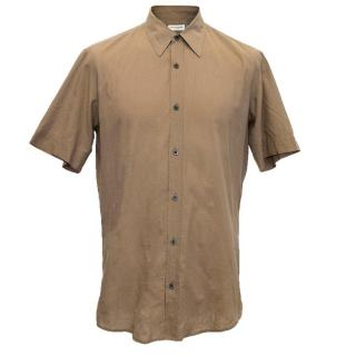 Dries Van Noten Brown cotton short sleeve shirt