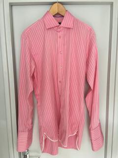 Ozwald Boateng pink striped men's shirt
