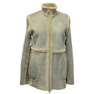 Trussardi light green suede jacket