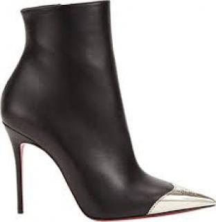 Christian Louboutin Calamijane toe cap black leather ankle boots