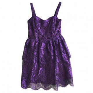 Tiffany McCall Couture Purple Lace Dress with Bolero