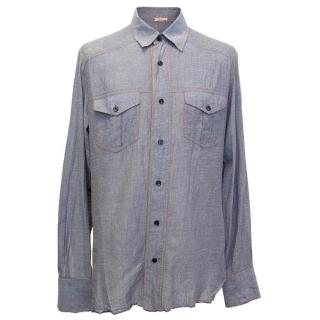 John Galliano jean shirt with print