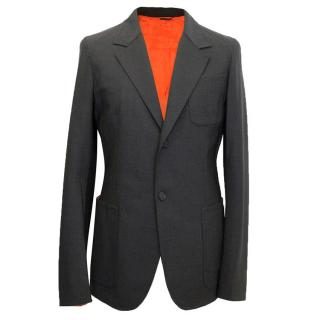 Jil Sander Grey Blazer with Orange Lining