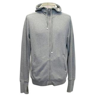 Orlebar Brown grey hooded sweatshirt