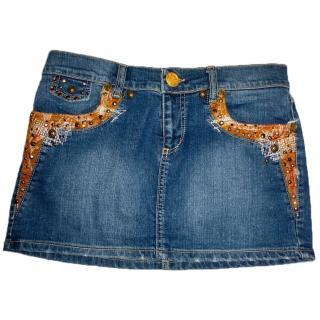 Roberto Cavalli denim mini skirt