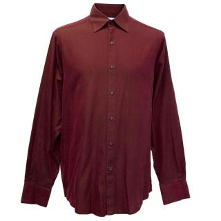 Hardy Amies burgundy shirt