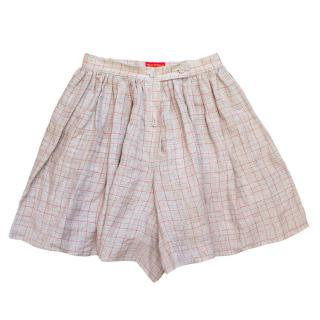 Vivienne Westwood grey checked shorts skirt