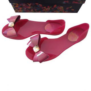 Stuart Weitzman jelly shoes