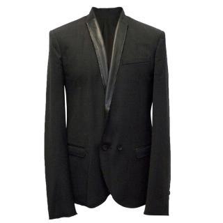 McQ Alexander McQueen black blazer with distressed collars