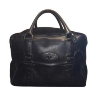 Mulberry Maisie Black Leather and Suede Handbag