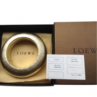 Loewe Gold Leather Bangle