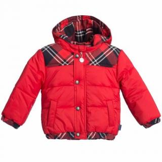 Junior Gaultier boys red padded jacket