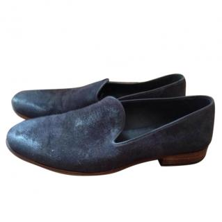 NDC Hand Made Midnight Blue Suede Slippers