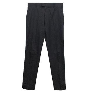 Raf Simons Navy Trousers with Blue Seam Stripe