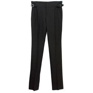 Burberry  Men's Black Woollen Dress Trousers