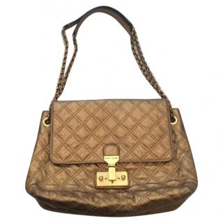 Marc Jacobs Gold Quilted Bag