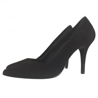 Maje suede court shoes