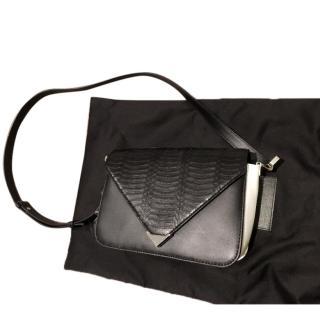 Prisma leather and elaphe shoulder bag