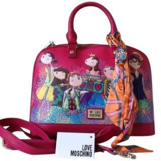 Love Moschino Girl Print Handbag