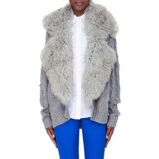 Preen By Thornton Bregazzi Shearling Collar Cardigan