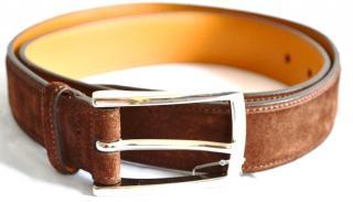Ralph Lauren Purple Label brown suede belt