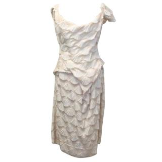 Vivienne Westwood red label cream shell effect dress