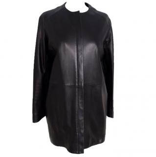 The Row Leather Coat