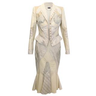 Alexander McQueen Patchwork Fitted Skirt Suit