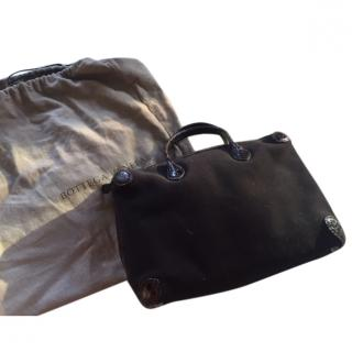Bottega Veneta crocodile-trimmed handbag