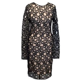 Kaufmanfranco Black Lace Circle Dress
