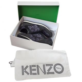 Kenzo tiger-print leather and suede trainers