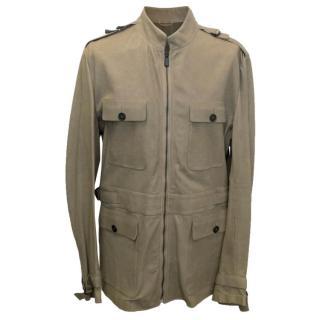 Bottega Veneta Pale Brown Leather Coat