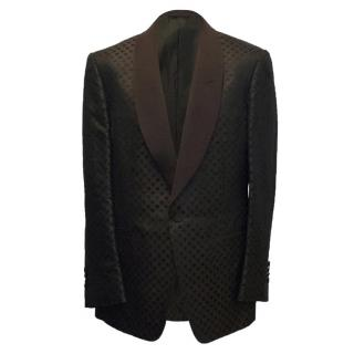 Tom Ford Brown Blazer with Black Polka Dots