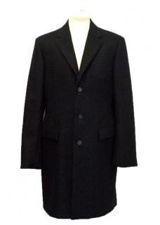 Jil Sander black wool and cashmere men's coat