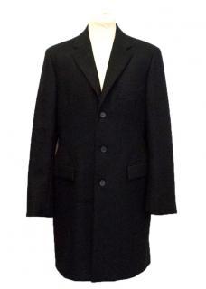 Jil Sander black wool and cashmere men's coat