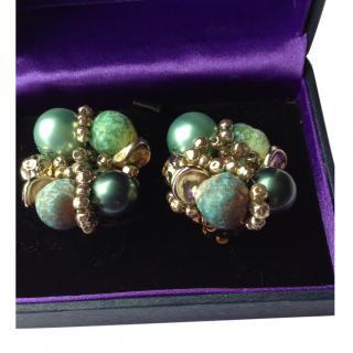 Elsa Schiaparelli Haute Couture Earrings New