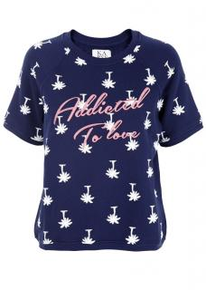 Zoe Karssen Palm Tree Print 'Addicted To Love' Terry Sweat