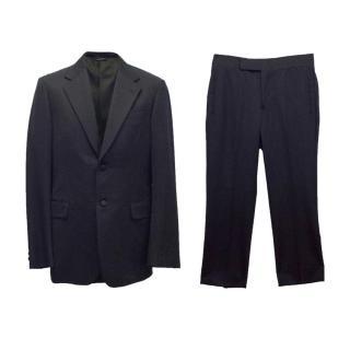 Prada mens navy two piece suit