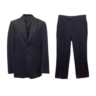 Prada mens navy two piece suit