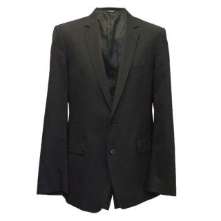 Dolce & Gabbana mens black two button blazer