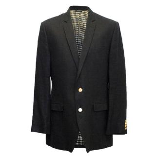 Dolce & Gabbana mens black linen jacket