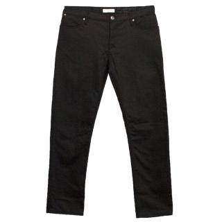 Burberry mens black trousers with zips