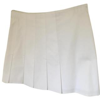 Joseph white pleated mini skirt