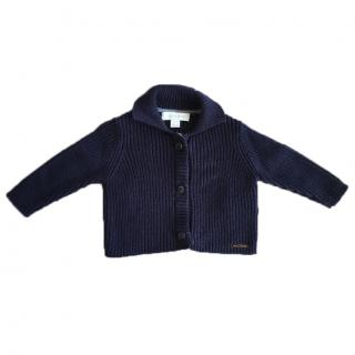 Unisex Blue Kids Burberry Cardigan Jumper