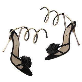 Nicholas Kirkwood shoes gold chain rose stiletto sandals