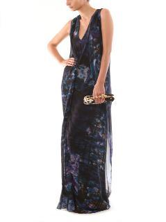 Erdem abstract gown/maxi dress