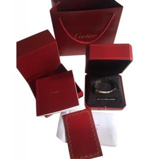 Cartier Love Bracelet White Gold Size 19 cms