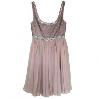 Marchesa Notte Pink Silk Cocktail Dress