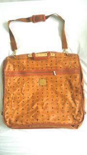 Mcm vintage cognac visetos garment bag