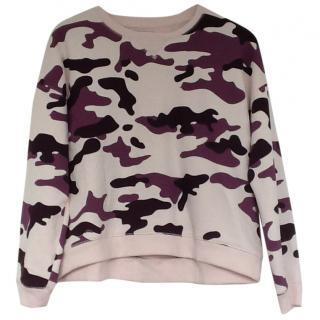Zoe Karssen Pink Camouflage  Sweatshirt